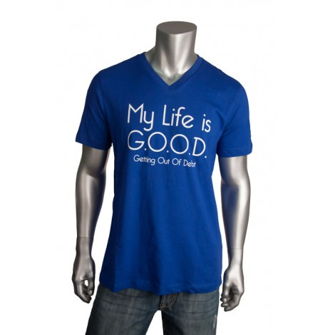 "Men's V Neck ""Life Is Good"" T-Shirt"