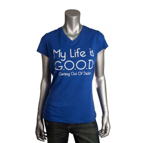 "Women's V Neck ""Life Is Good"" T-Shirt"