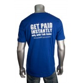 "Men's V Neck ""Instant Pay"" T-Shirt"