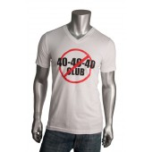 """Men's V Neck """"40 40 40"""" T-Shirt"""
