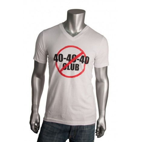 "Men's V Neck ""40 40 40"" T-Shirt"