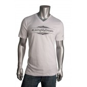 "Men's V Neck ""Living My Dream"" T-Shirt"