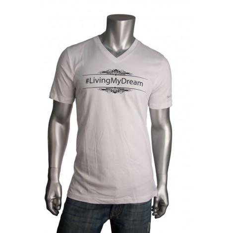 """Men's V Neck """"Living My Dream"""" T-Shirt"""