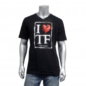 "Men's V Neck ""I Heart TF"" T-Shirt"