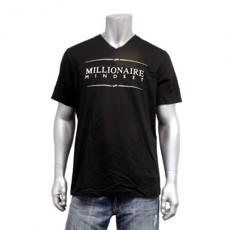 """Men's V Neck """"Millionaire Mindset"""" T-Shirt"""