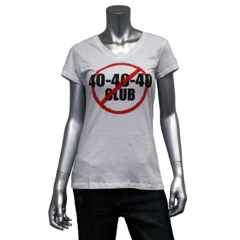 "Women's V Neck ""40 40 40"" T-Shirt"