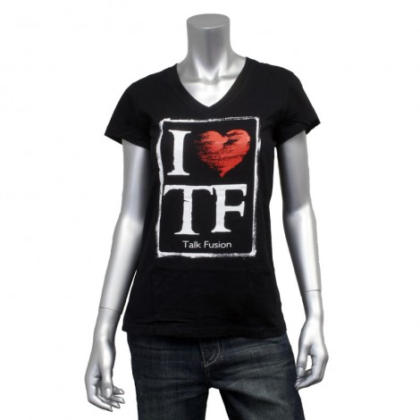 "Women's V Neck ""I Heart TF"" T-Shirt"