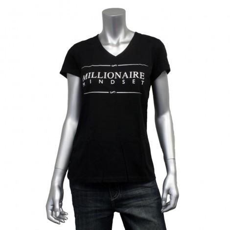 """Women's V Neck """"Millionaire Mindset"""" T-Shirt"""