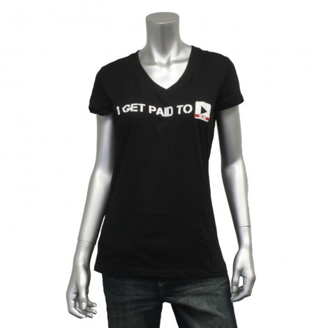 "Women's V Neck ""I Get Paid To Play"" T-Shirt"
