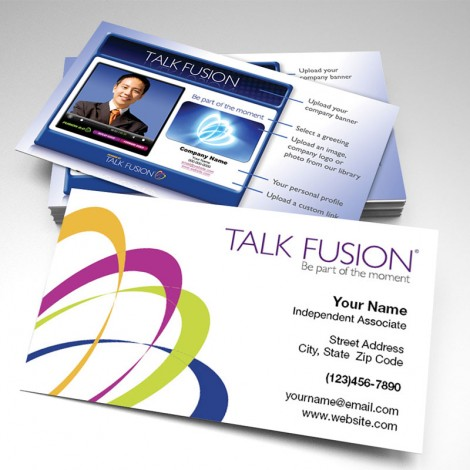 Talk Fusion Two-Sided Glossy Business Card 3 (pack of 250)