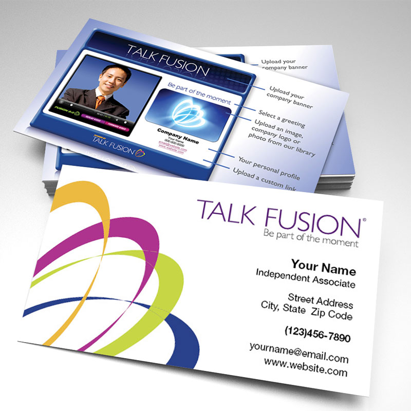 Talk fusion two sided glossy business card 3 pack of 250 colourmoves