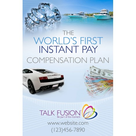 """Instant Pay Compensation Plan"" Customizable 12"" x 18"" Poster"