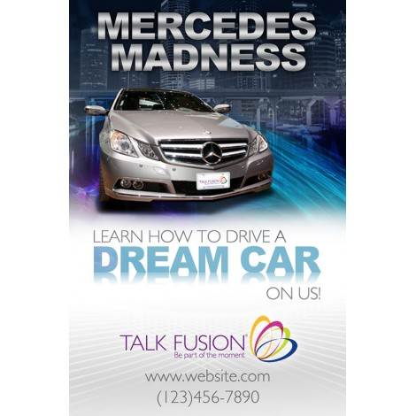 """Mercedes Madness"" Customizable 12"" x 18"" Poster"