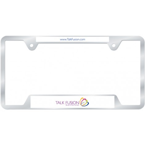 Talk Fusion License Plate Frame