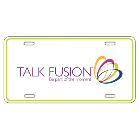 Talk Fusion Aluminum License Plate