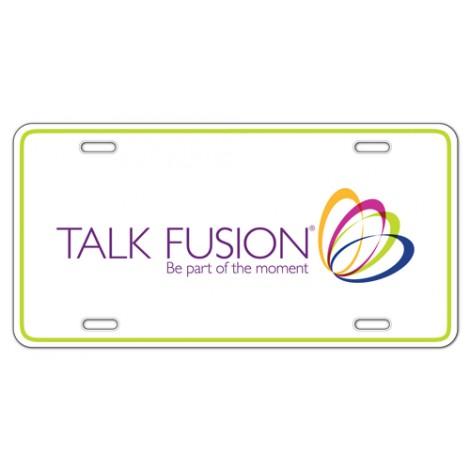 Talk Fusion Aluminum License Plate