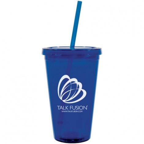 Talk Fusion Acrylic Cup w/Straw